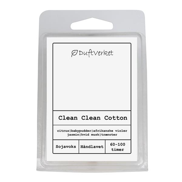 clean duftlys, duft af clean, duftvoks clean