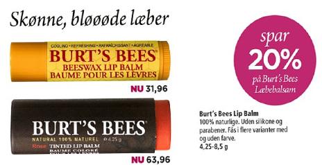 Burts Bees læbepomade i Matas, læs min anmeldelse af Burts Bees læbepomade