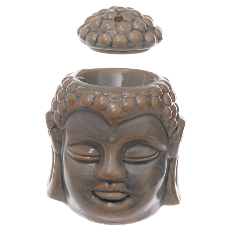 Duftlampe, Aromalampe, Buddha, Grøn,