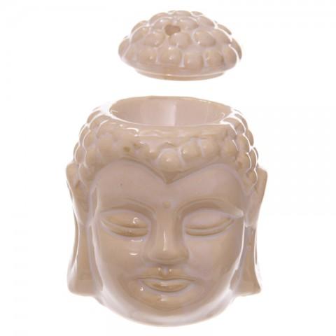 Duftlampe, Aromalampe, Hvid, Buddha, Duftlampe