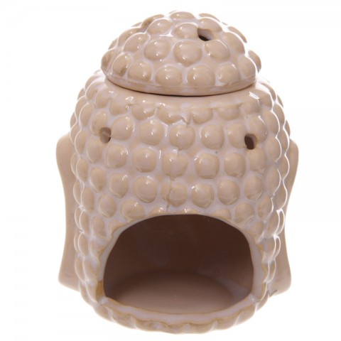 Duftlampe eller aromalampe, Hvid, Buddha,