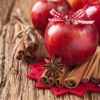 duftlys, æbler, kanel, efterårsduft, duftlys med juleduft, duftlys med efterårsduft