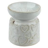 Billig aromalampe i hvid keramik