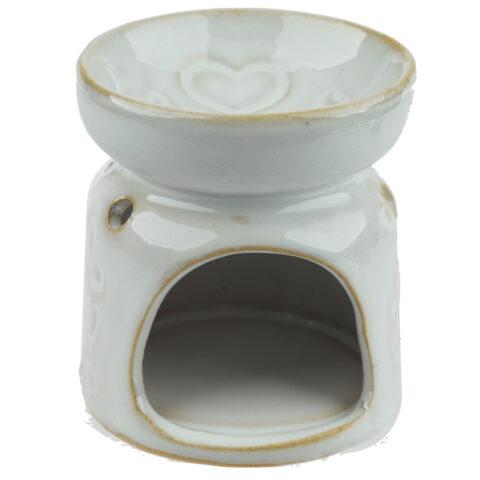Billig aromalampe, hvid keramik