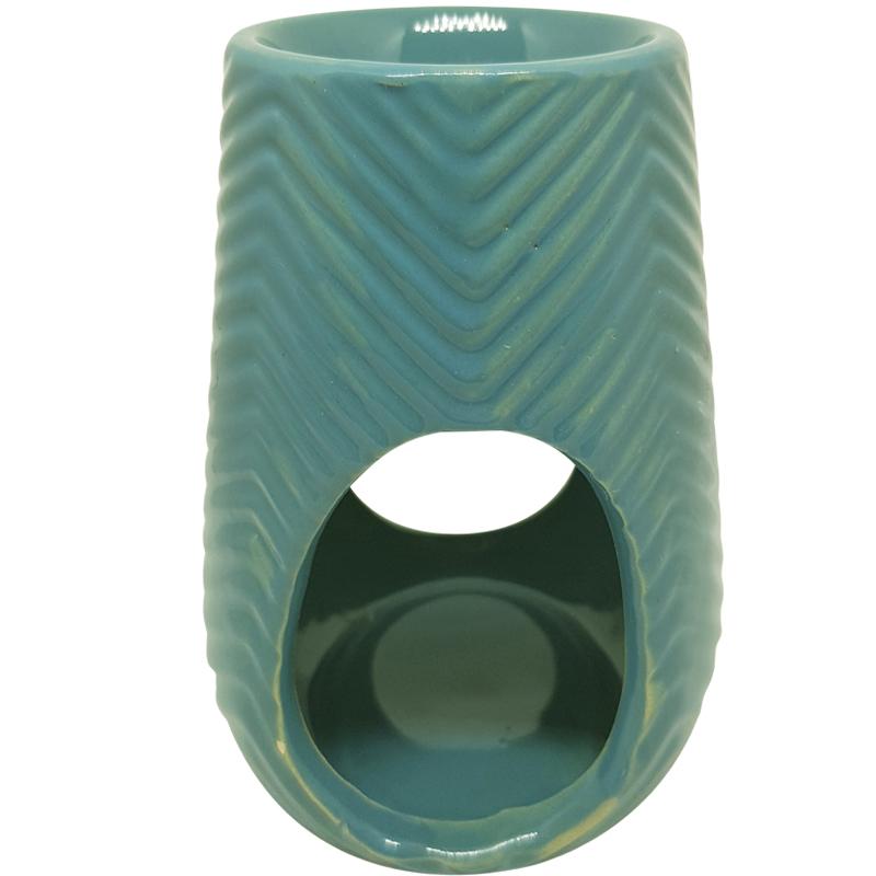 Image of   Duftlampe med sildebensmønster // blå