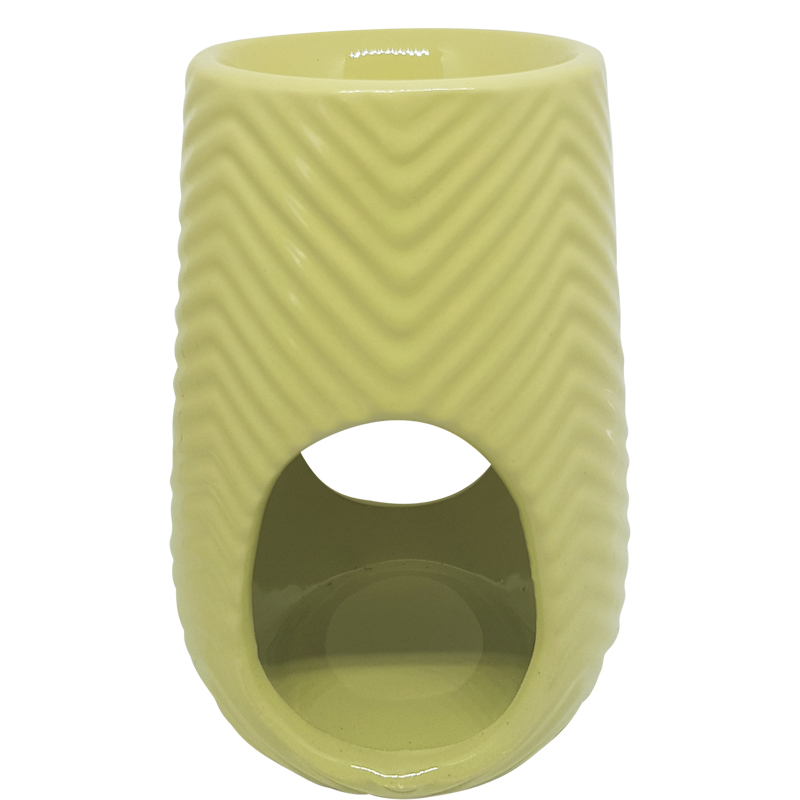 Image of   Duftlampe med sildebensmønster // lys karry