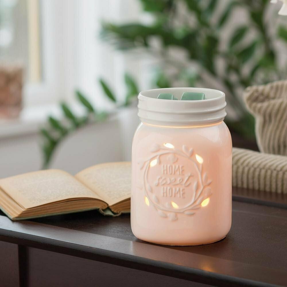 Elektrisk duftlampe i Mason Jar stil - til duftvoks