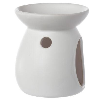 hvid, duftlampe, keramik, duftvoks, olielampe, aromalampe, duftlamper, aromalamper