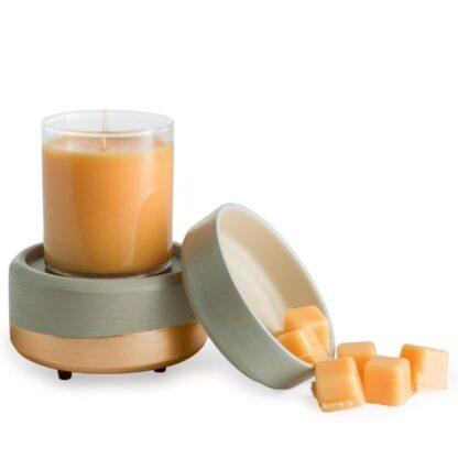 Elektrisk duftlampe med guld til duftvoks